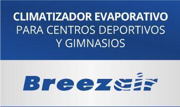 Ejemplo de climatizador evaporativo de bajo consumo para gimnasios y centros deportivos como por ejemplo centros de padel