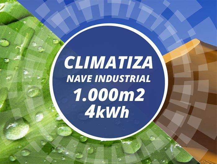 Climatizador nave industrial bajo coste