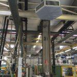 climatizacion evaporativa industrial en una fábrica de injección de plastico y pvc