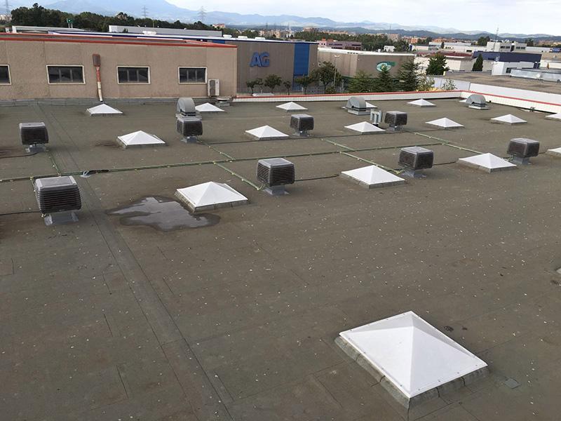Climatizador evaporativo industria grafica Alzamora