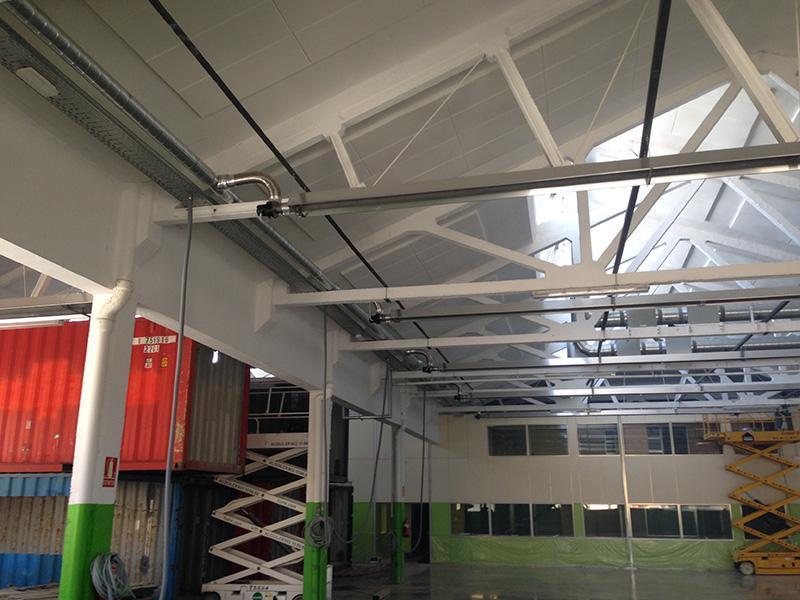 ejemplo calefacción industrial de bajo consumo mediante tubos radiantes