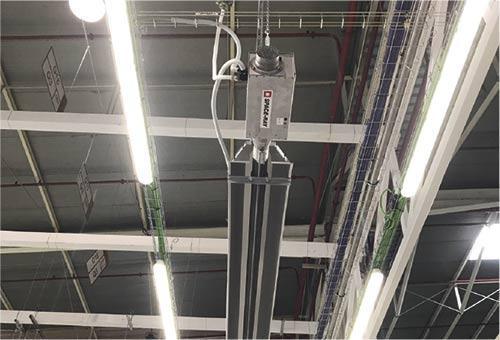Calefaccion radial tubo radiante para techo nave industrial por zonas