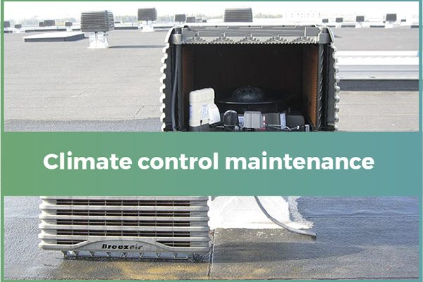 Evaporative control climate maintenance
