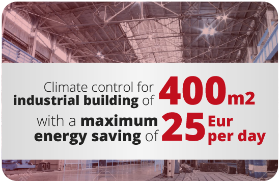Industrial climate control energy saving