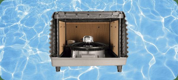 Climatizador evaporativo mejor que un equipo de aire lavado en mexico