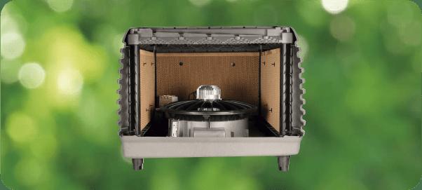 Evaporativo aire acondicionado industrial funcionamiento