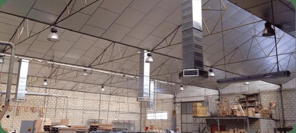 Sistema aire evaporativo nave industrial