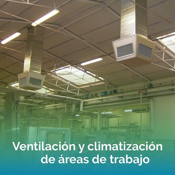 Ventilación y climatización de áreas de trabajo